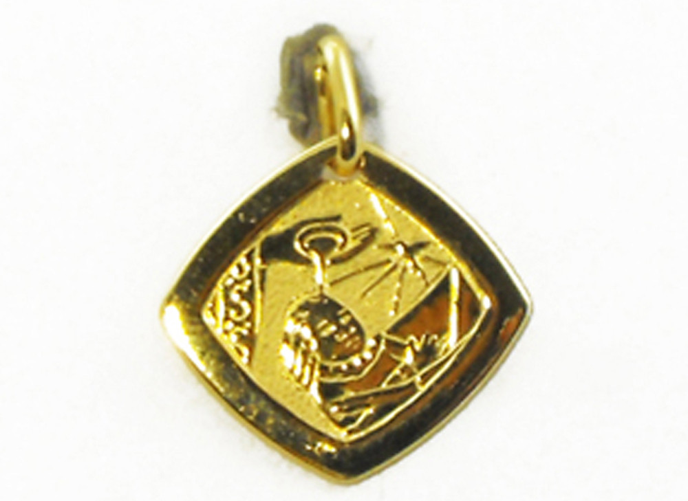 com dp baptism x amazon medal yellow charms medallion jewelry gold quot