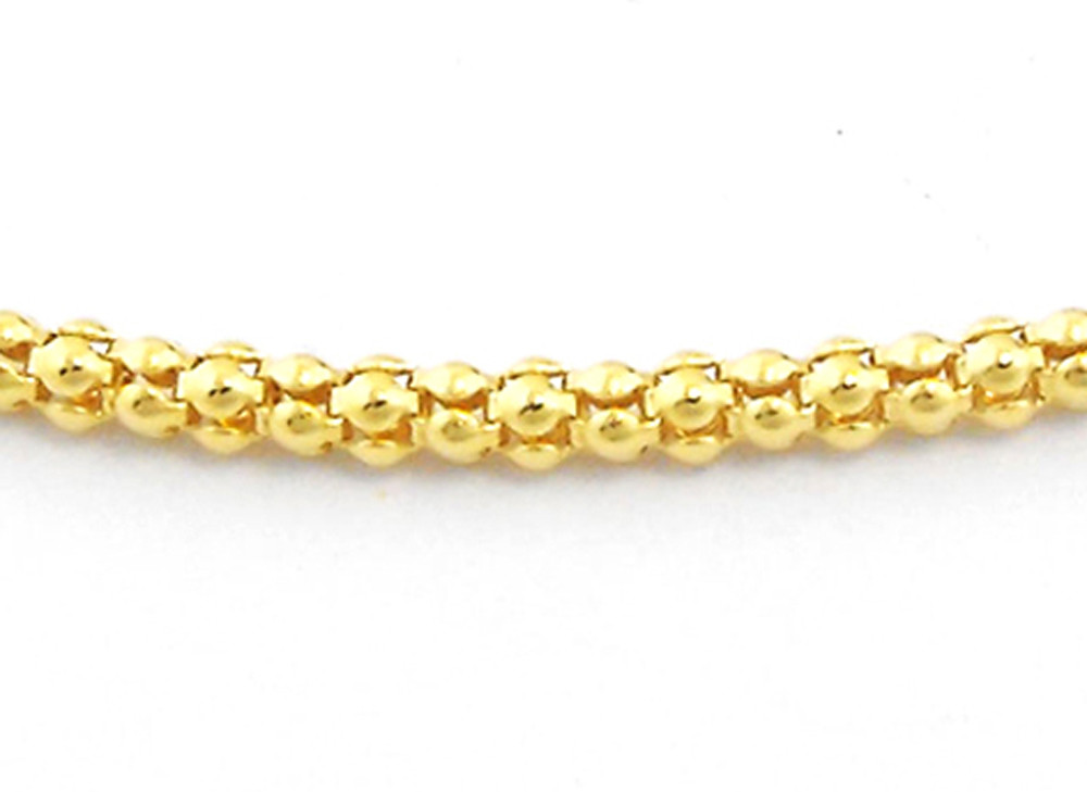 italian mens chains link classic mm byzantine yellow gold chain